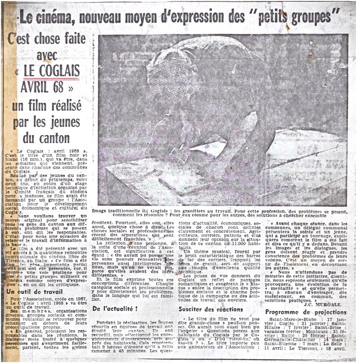 article Coglais 1968